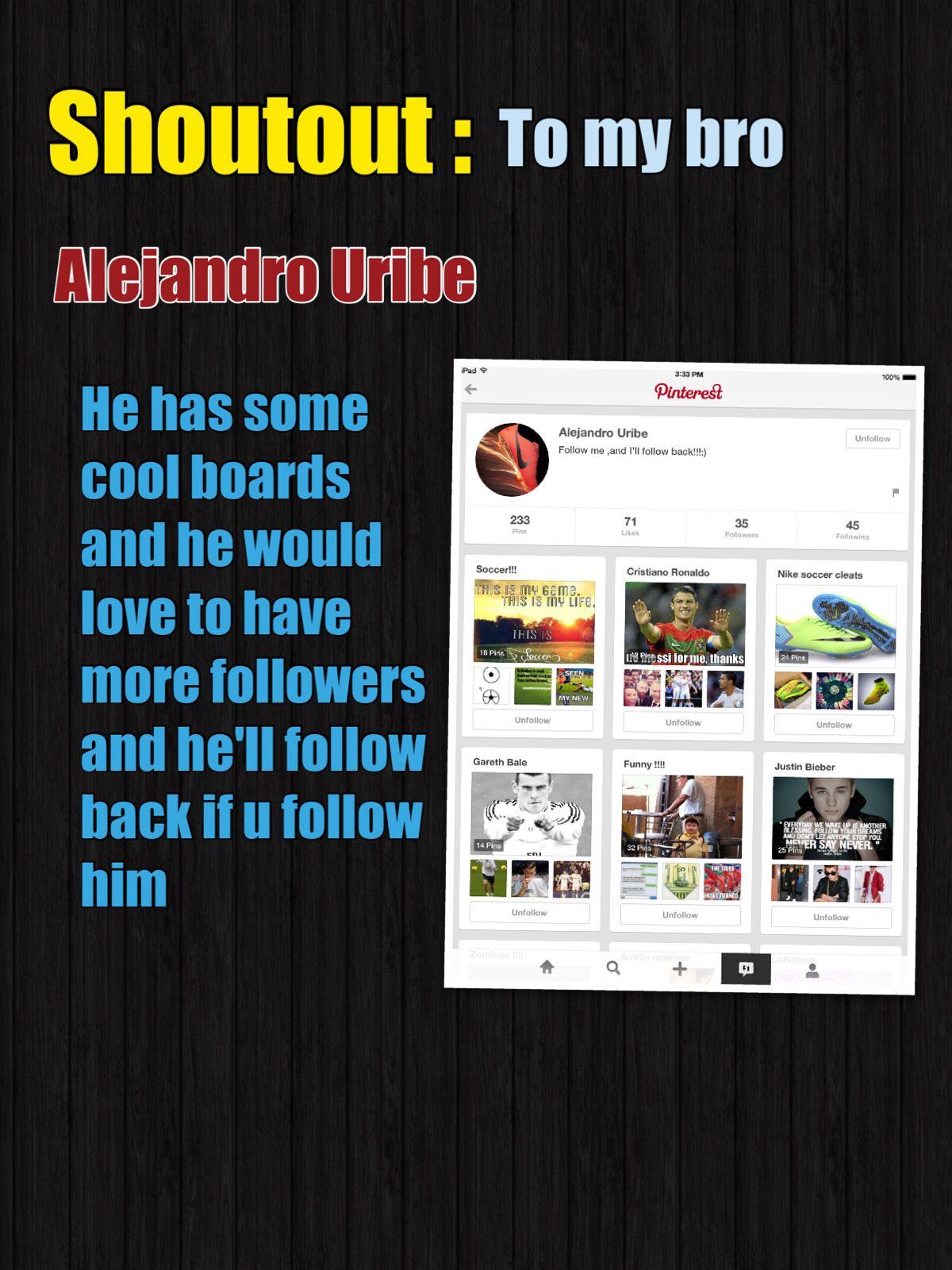 Plz follow him