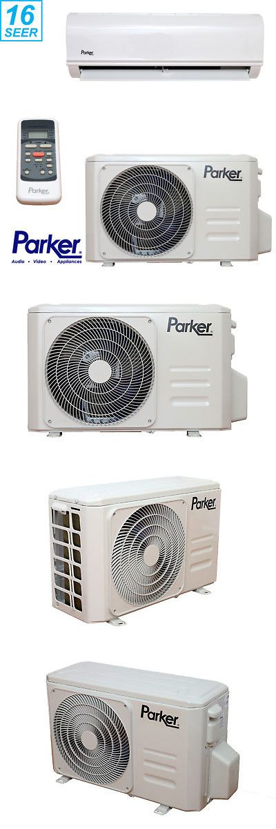 Central Air Conditioners 185108 Parker 12000 Btu 1 Ton 16 Seer Air Conditioning Ductless Mini Split Ductless Mini Split Central Air Conditioners Ductless