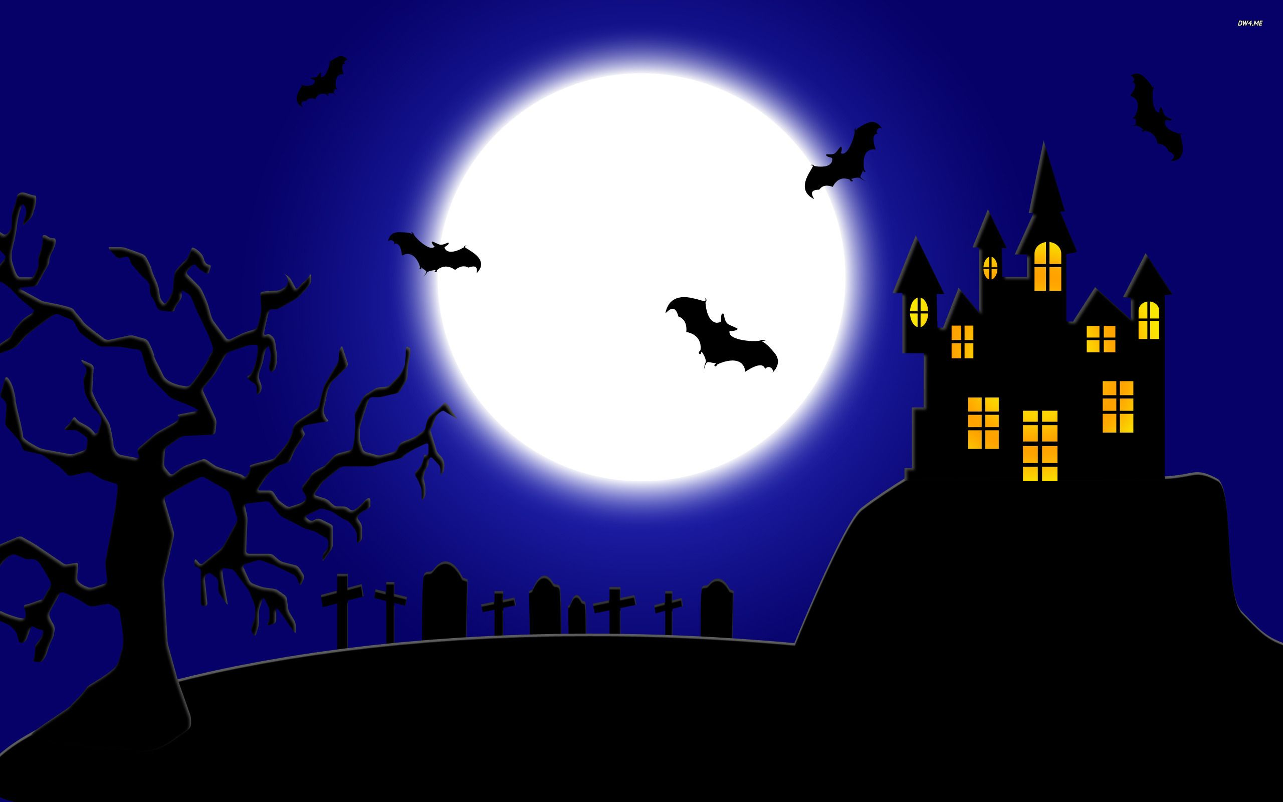 spooky halloween holiday desktop wallpaper moon wallpaper halloween wallpaper bat wallpaper cemetery wallpaper holidays no - Spooky Halloween Pictures Free