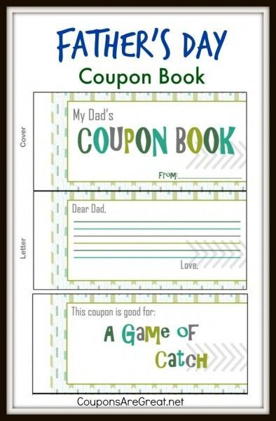 This Father S Day Coupon Book Is A Great Inexpensive Gift For Dad