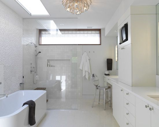 Rectangular Window Design Ideas Pictures Remodel And Decor Window In Shower Accessible Bathroom Design Contemporary Bathrooms