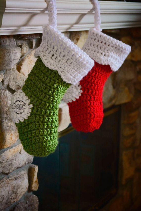 Crochet Chunky Christmas Stocking PATTERN | Crochet PATTERN ...