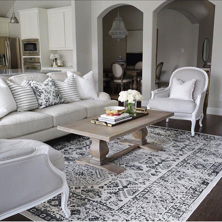 Living room inspo restoration hardware gray Lyon chairs