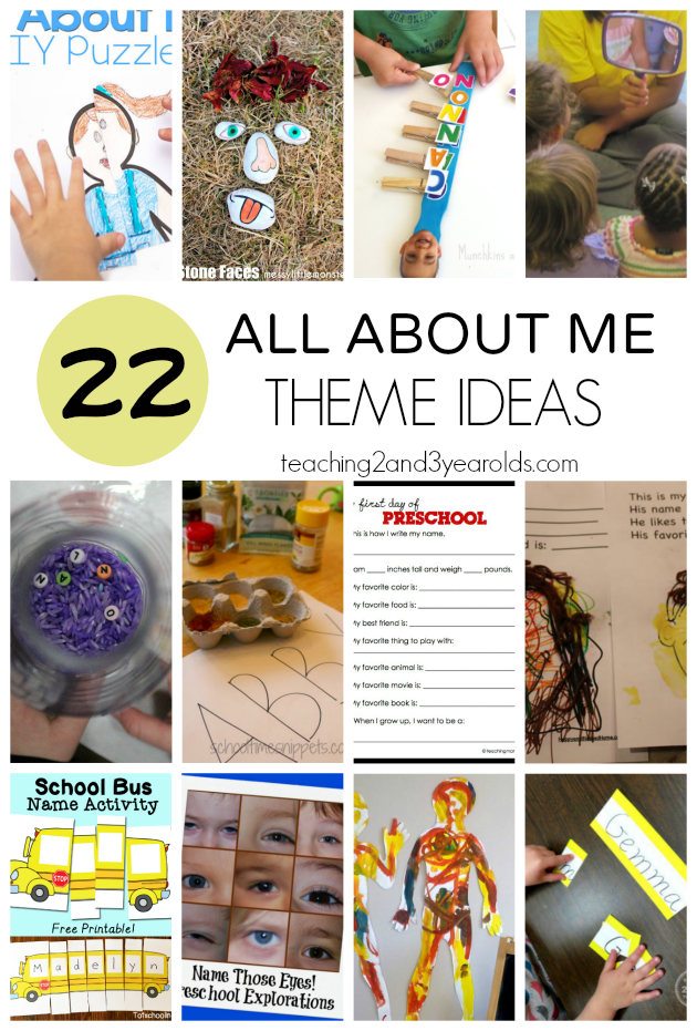 30+ All About Me Theme Activities for Preschool | Me ...