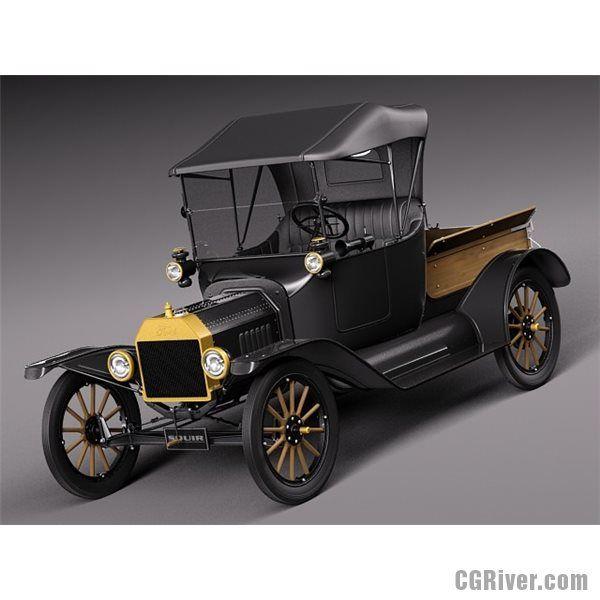 Ford Model T pickup - 3D Model