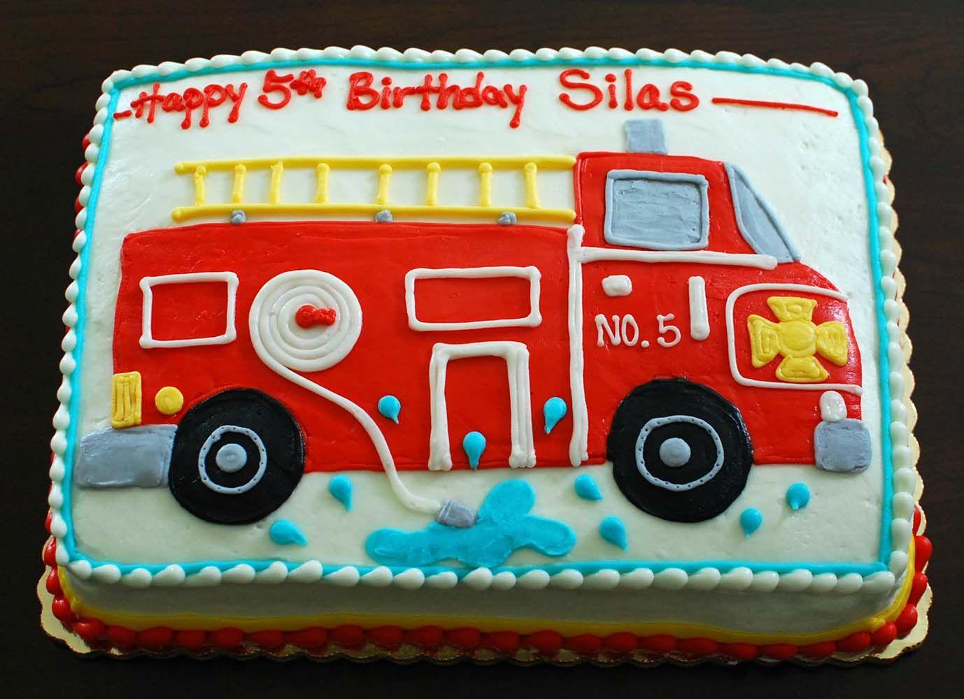 Admirable Sheet Cake Fire Truck Cake Bing Images Truck Birthday Cakes Funny Birthday Cards Online Benoljebrpdamsfinfo
