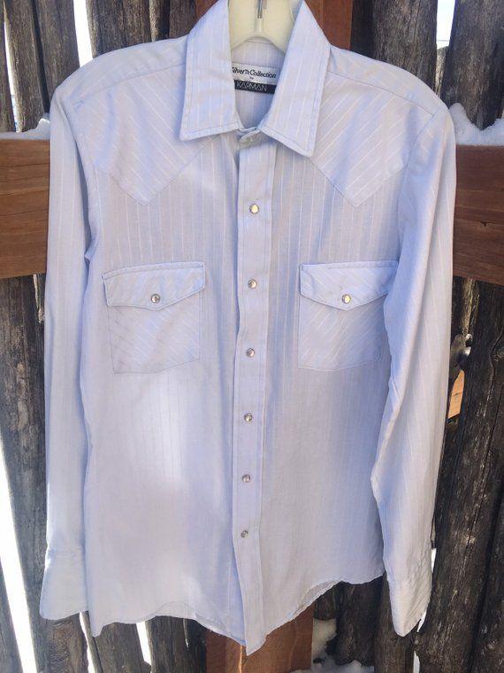 4da047762b Vintage Blue Silver Collection Karman Western Shirt