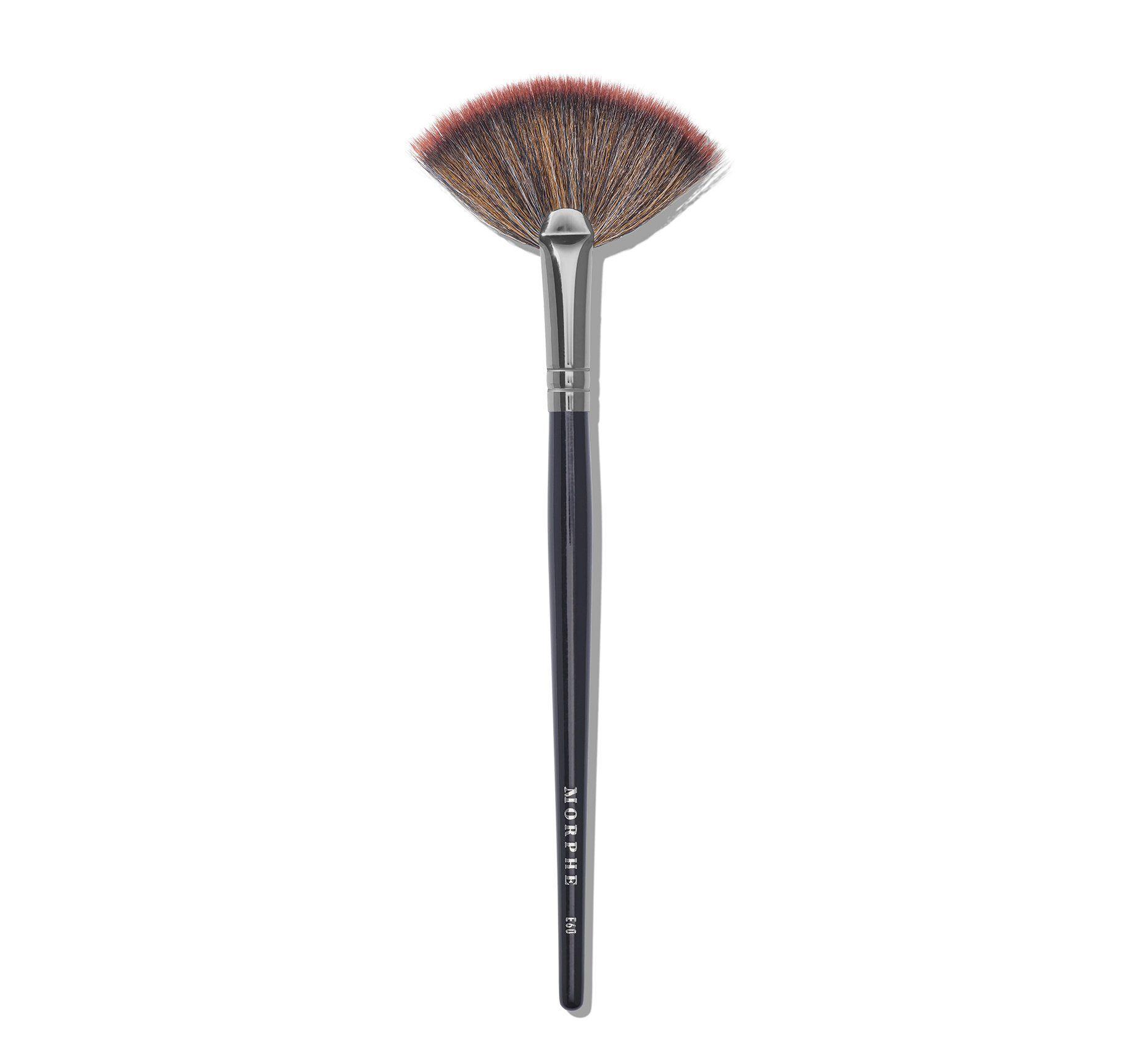 Morphe E60 Deluxe Highlight Fan Makeup Brush In 2020 Fan Brush Makeup Makeup Brushes Makeup Brushes Morphe
