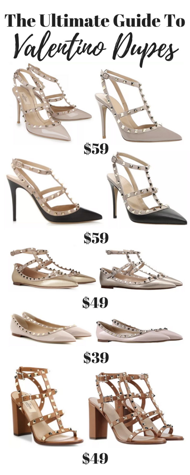 c5bfa7b3ec29 The Ultimate Guide To Valentino Rockstud Dupes - Get The luxury Look For  Less!