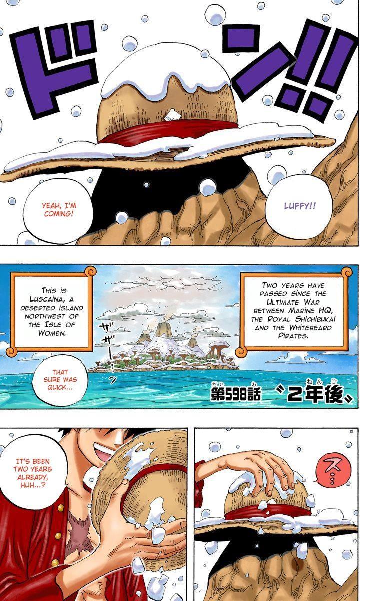 One Piece Digital Colored Comics Chapter 598 Manga One Piece One Piece Luffy