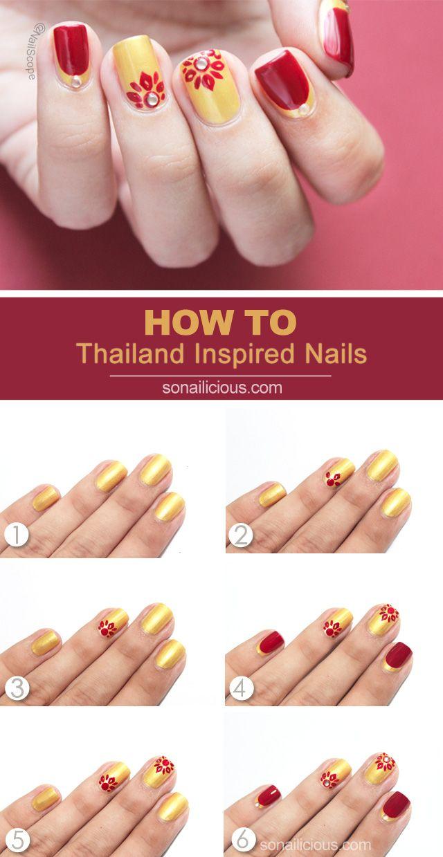 Must-Try Thailand Inspired Nail Art Tutorial | Art tutorials ...