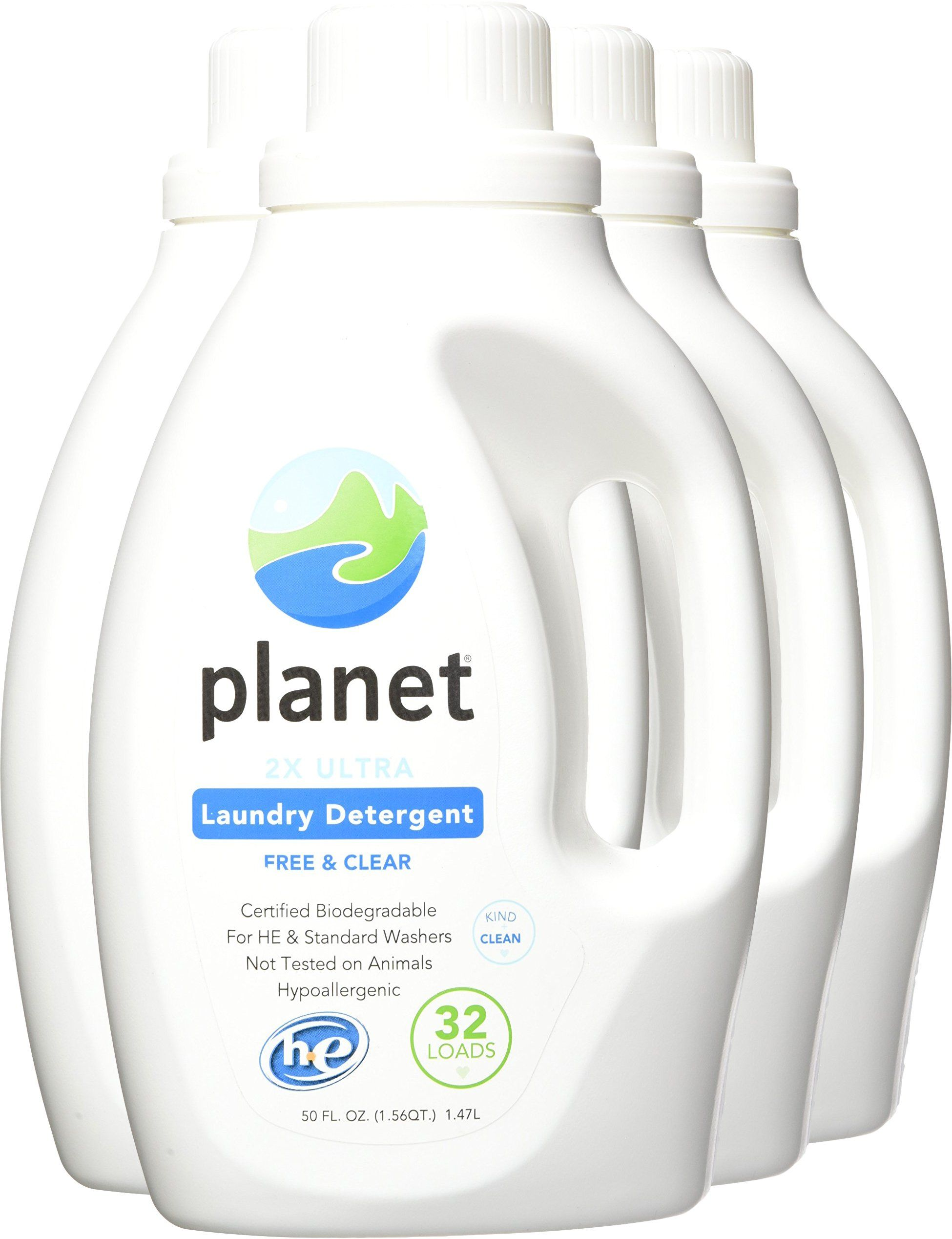 Planet 2x Ultra Laundry Detergent Unscented 50 Fluid Ounce Pack Of