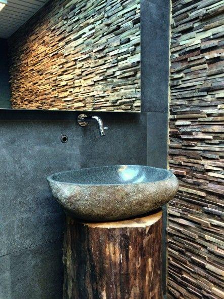 Impermo, goedkope tegels, badkamer, panelen, houten strips ...