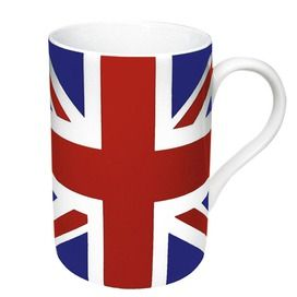 Union Jack Mug - have you noticed how IN everything British is? Can you say Olympics + Queen's Jubilee??