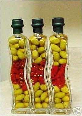Decorative Vinegar Bottle Set Of 3 Decorative Vinegar Wave Bottlesglaspak Httpwww
