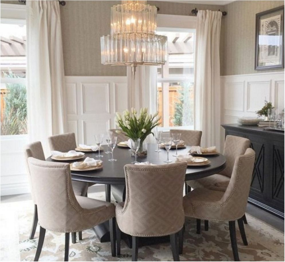 round dining room tables for 8 in 2020 | Round dining room ...