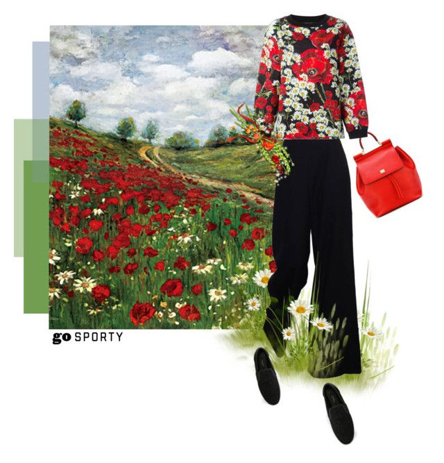 """Poppies"" by theitalianglam ❤ liked on Polyvore featuring The Row, Dolce&Gabbana, dolcegabbana and sportystyle"