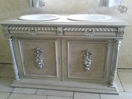 Meuble lavabo ancien   Salle de bain   Pinterest   Lavabo ancien ...