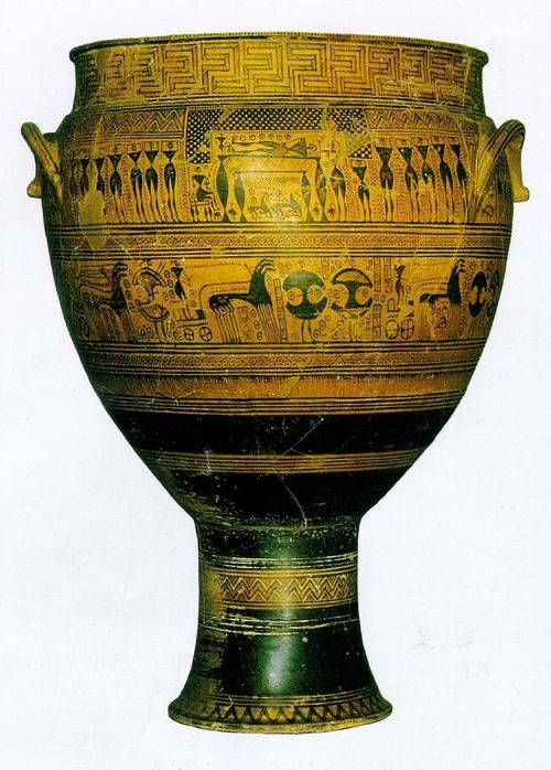 Funerary Vessel Krater Is Dated Around 750 Bce From The Ancient
