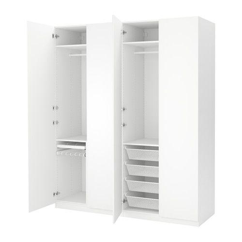 Kleiderschrank ikea weiß  PAX Kleiderschrank, weiß, Vikanes weiß | Pax wardrobe, Ikea and ...