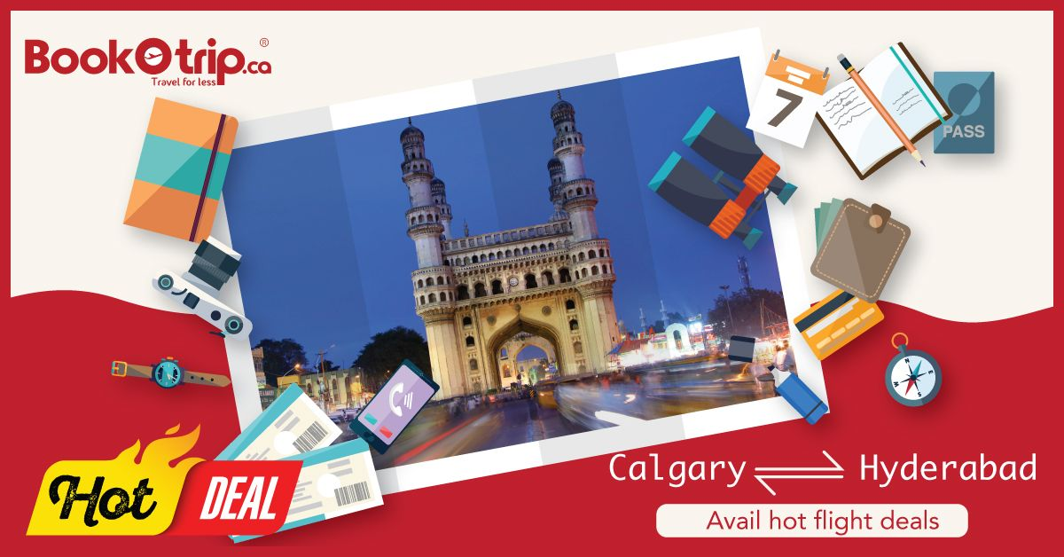Get cheap round trip flights from Calgary to Hyderabad