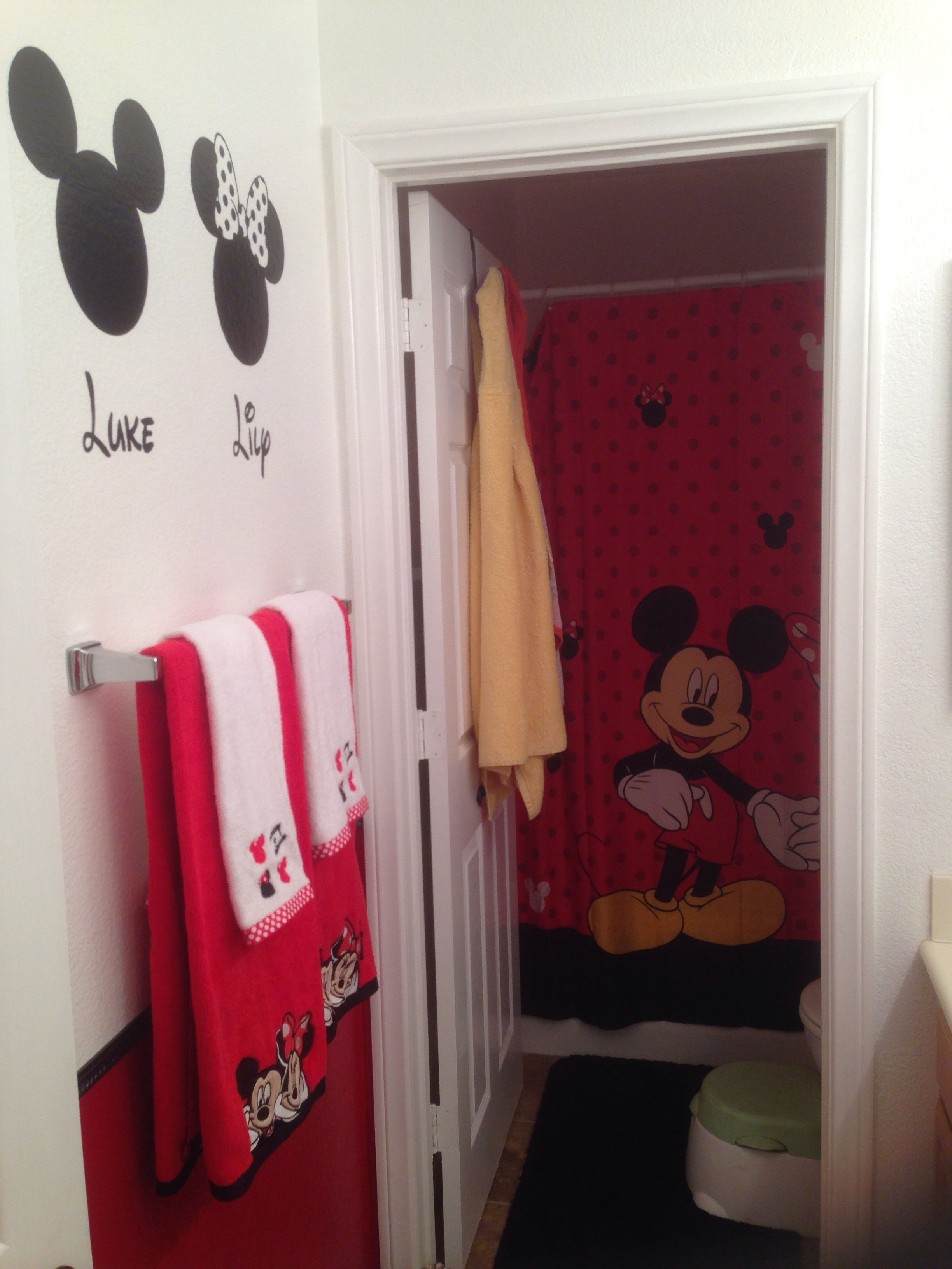 Our Mickey And Minnie Bathroom Kid Bathroom Decor Bathroom