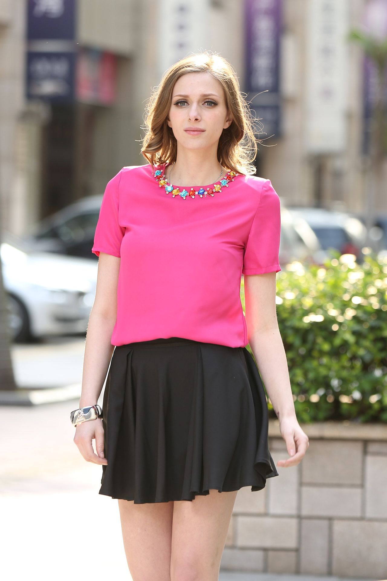 Sweet Pink Top With Embellished Collar | This Is Why I\'m Broke ...