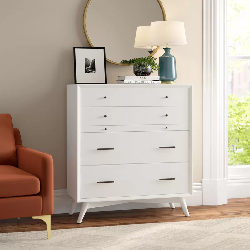 Somerton 4 Drawer Chest Reviews Joss Main Dressers And Chests Dresser As Nightstand 7 Drawer Dresser 4 drawer chest of drawers