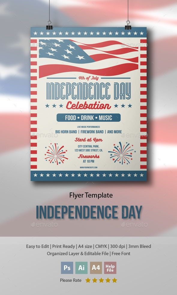 Independence Day Flyer Flyer template, File size and Ai illustrator - independence day flyer