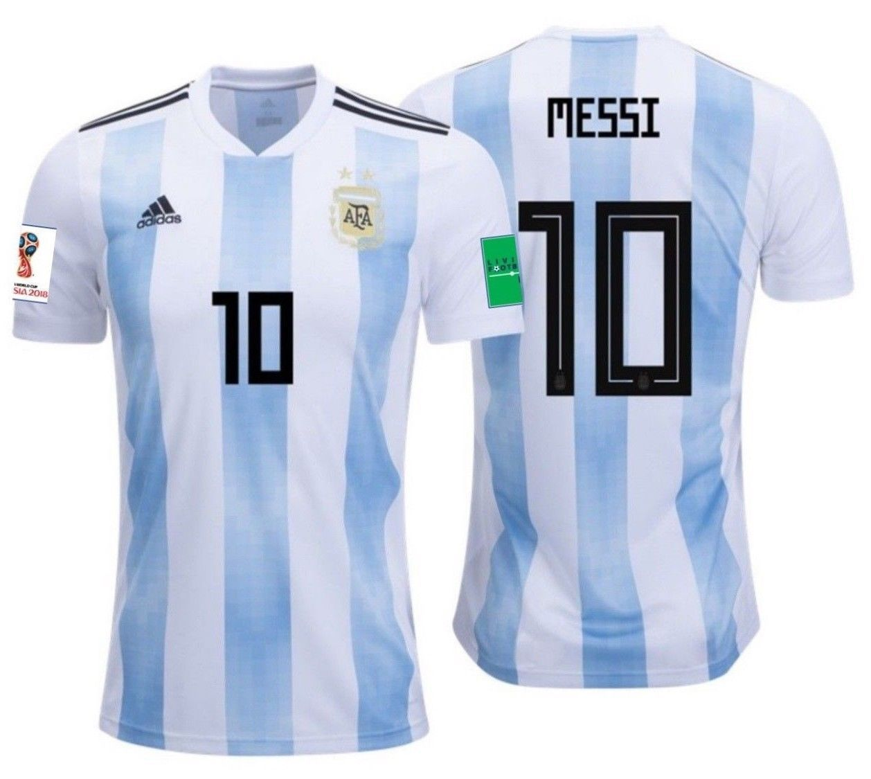 wholesale dealer 30619 51aa3 Adidas lionel messi argentina home jersey world cup 2018 ...