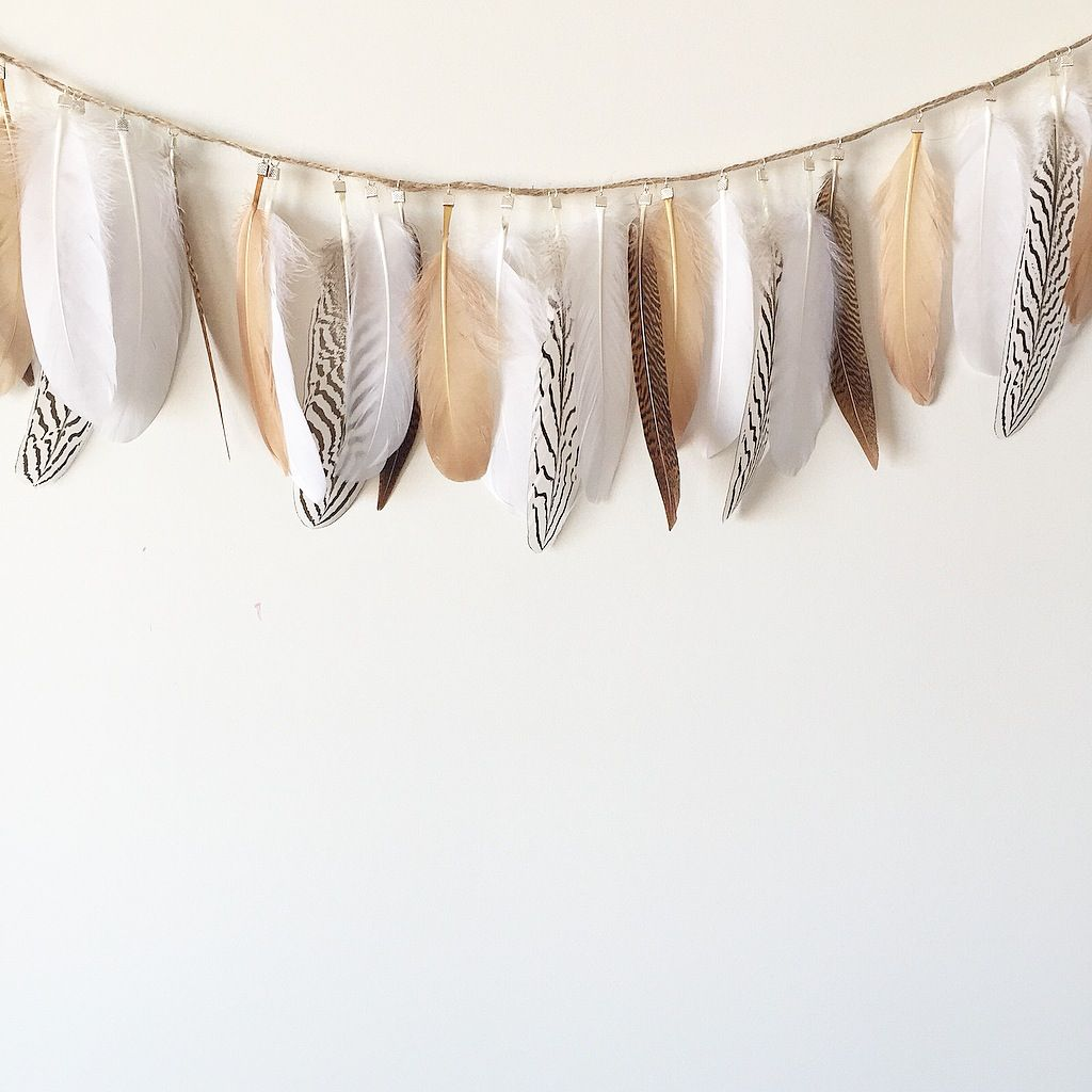 BOHO FEATHER GARLAND / My Little Chief
