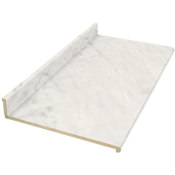 Vt Dimensions Formica 4 Ft Carrara Bianco Straight Laminate Kitchen Countertop Lowes Com In 2020 Laminate Kitchen Replacing Kitchen Countertops Laminate Countertops