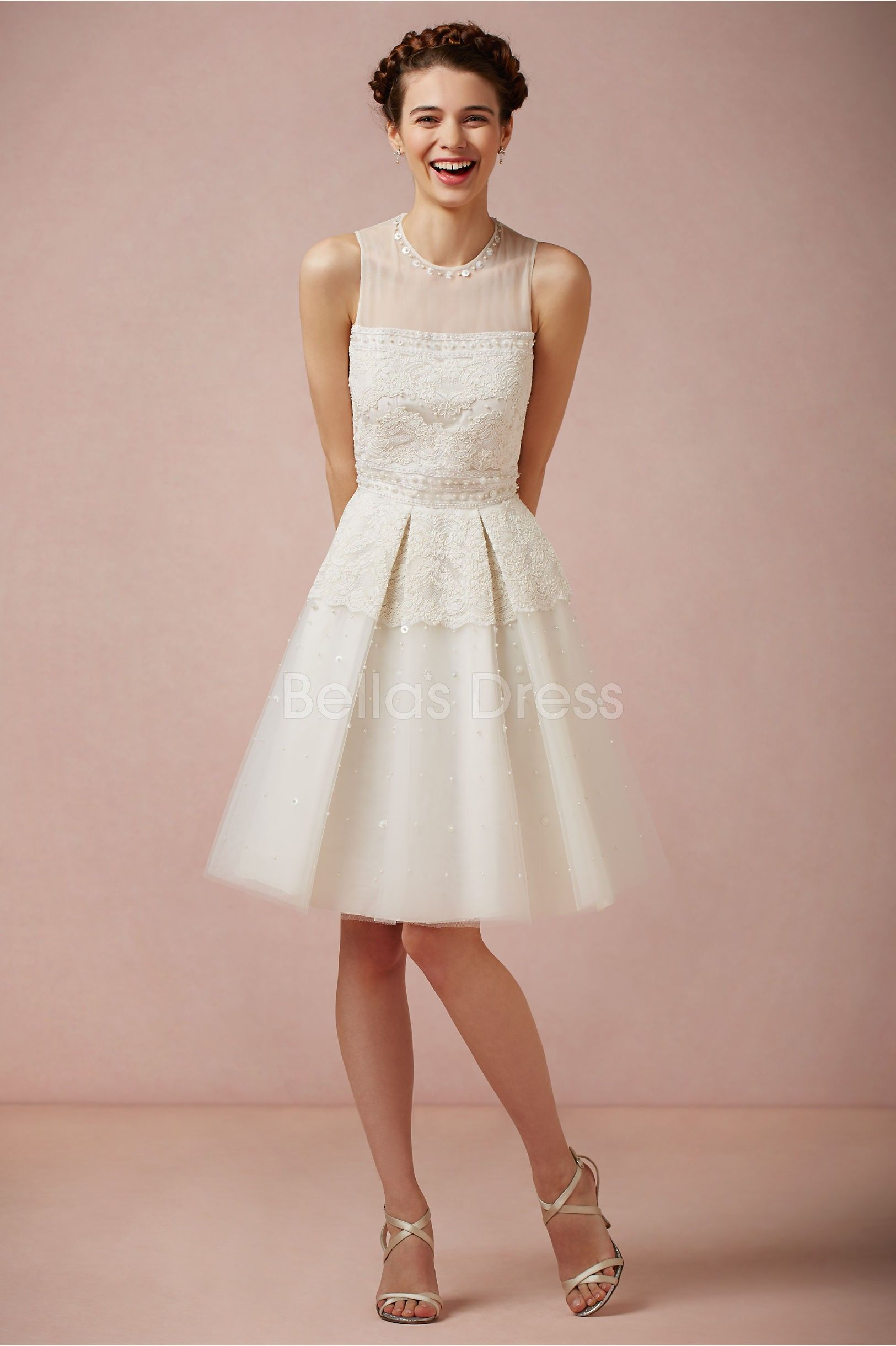 knee length wedding dresses - Google Search | Gotta love weddings ...