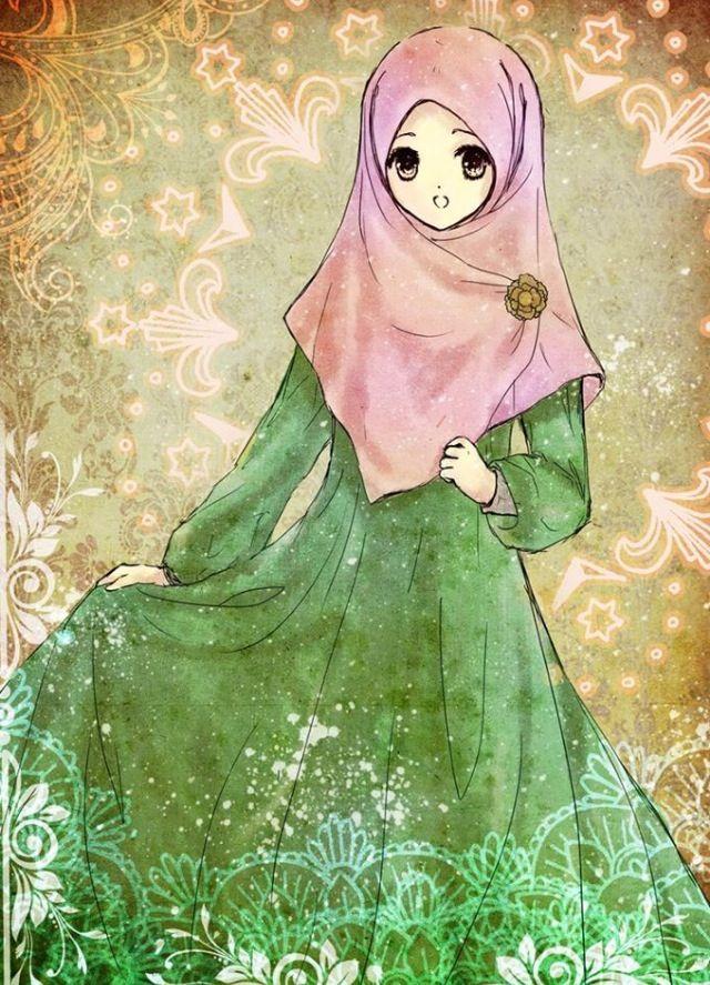 Pin oleh Emel Tokmak di Hijab çizim (Dengan gambar