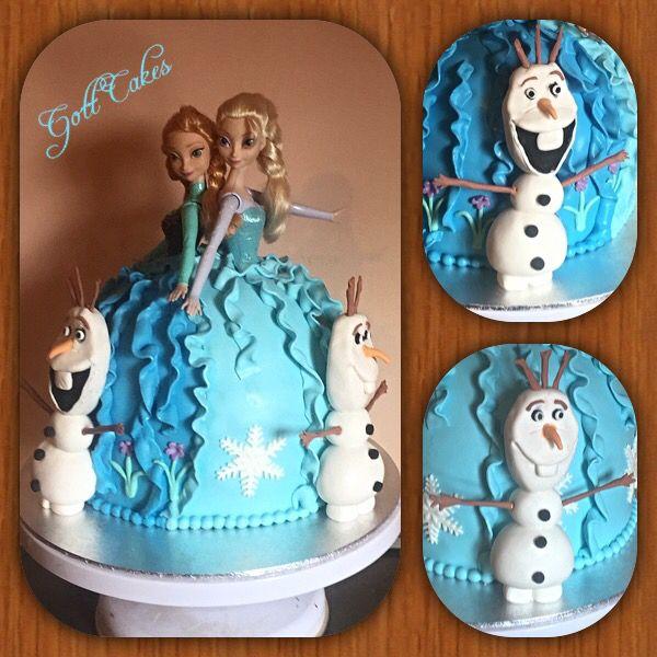 Fabulous Frozen Cake Elsa And Anna Cake Joint Twin Birthday Cake Birthday Cards Printable Benkemecafe Filternl