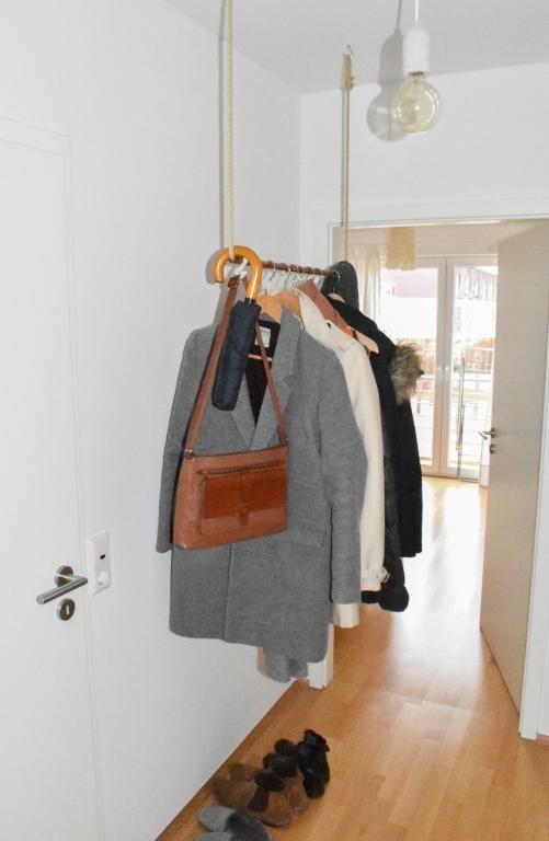 Diy Garderobe diy kleiderstange für den flur die kostengünstige alternative zum