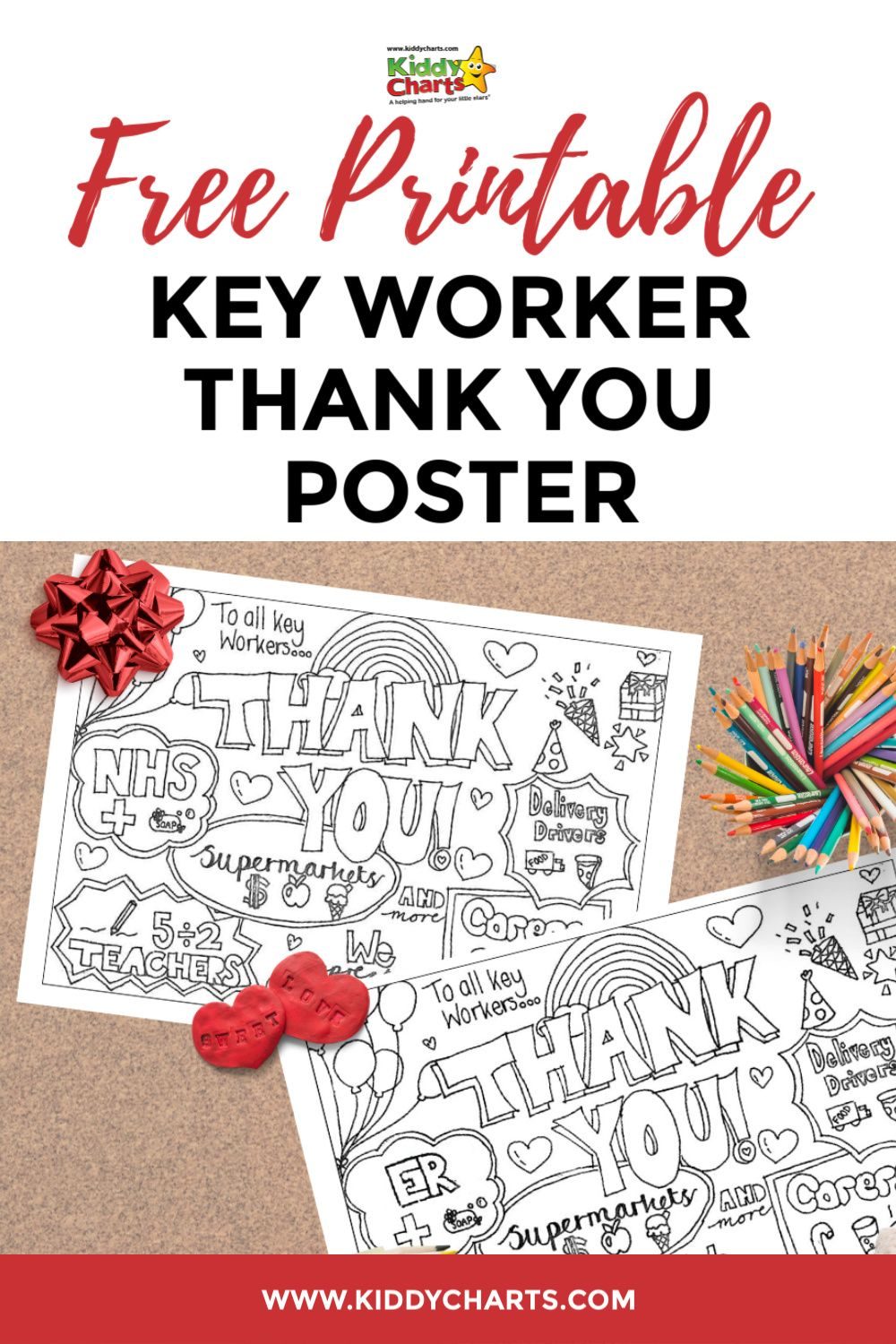 Free Printable Key Worker Thank You Poster Thank You Poster Coloring Pages For Kids Craft Activities For Kids