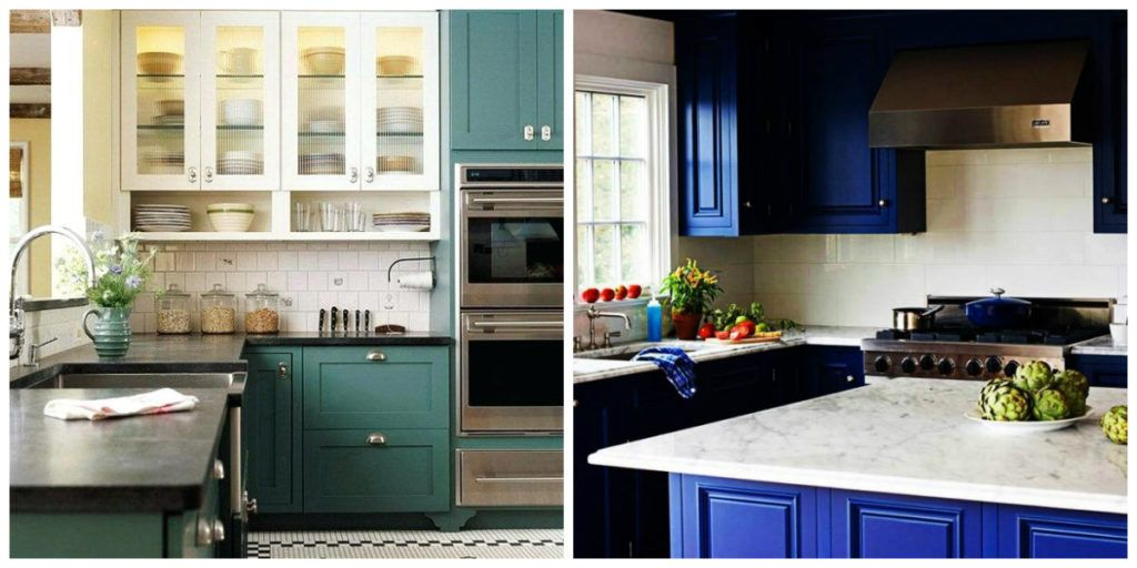 Kitchen Cabinet Paint Colors 2019 Two Color Use In Kitchen