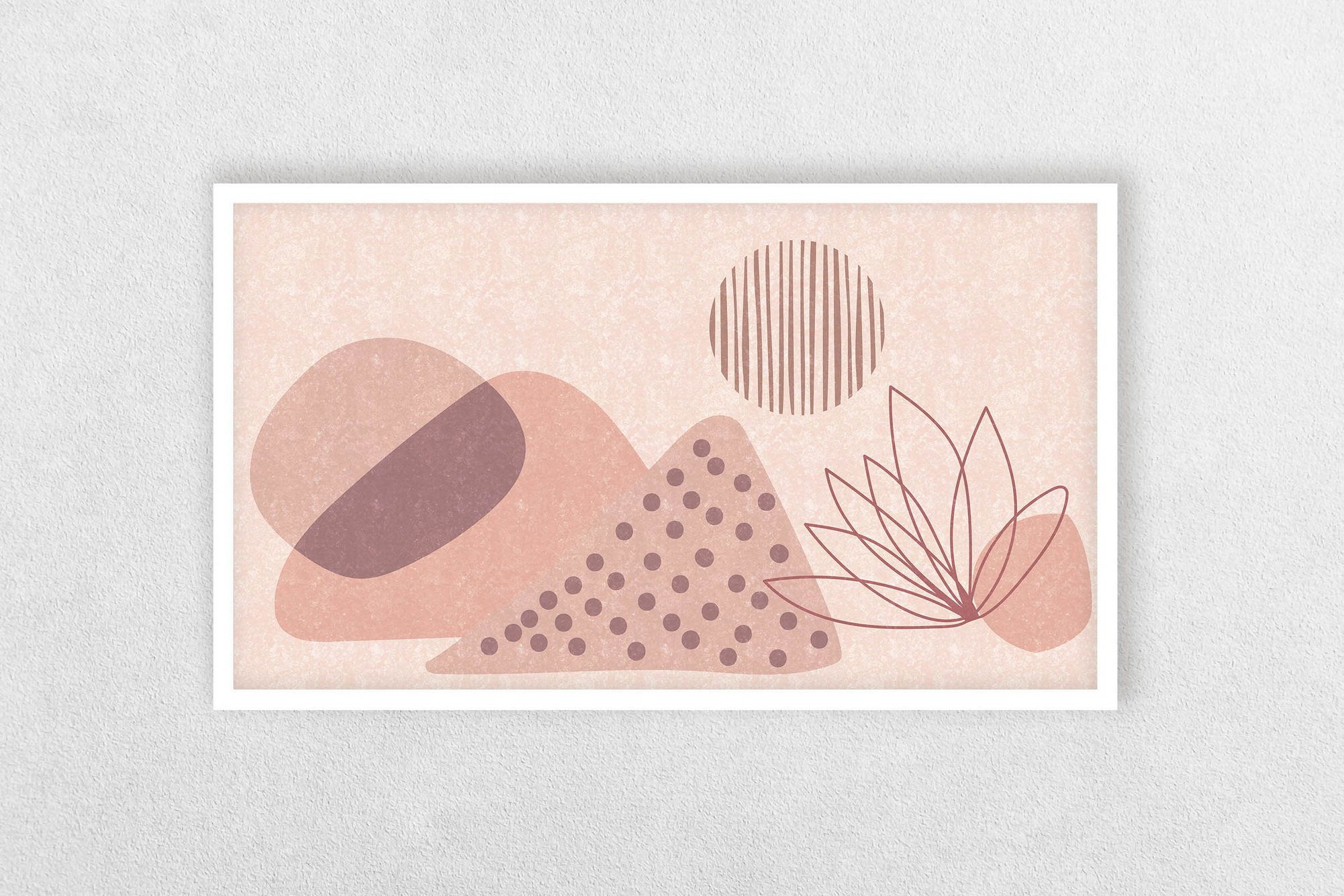 Frame TV Art Abstract Neutral Tone Blush Pink Art for Samsung Frame TV Modern Abstract Frame TV Art Geometric Contemporary Digital Download