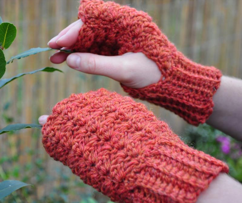 Last Minute Crochet Fingerless Gloves | Fingerless gloves, Gloves ...