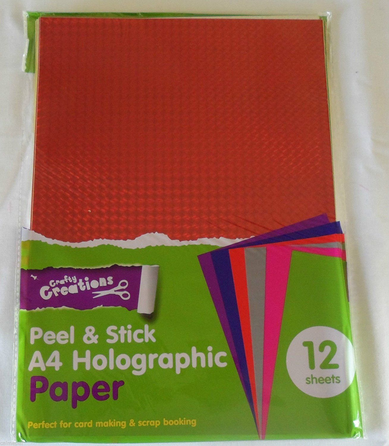 Peel And Stick A4 Coloured Paper 12 Sheets Of Mixed Holographic Colours Card Making Scrap Booking Arts Amp Crafts Color Card Card Making Scrapbook
