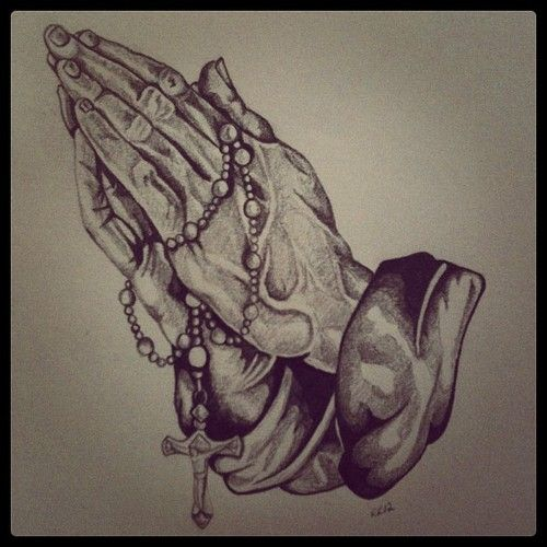 Praying Hands With Rosary Drawing Google Search Other That I