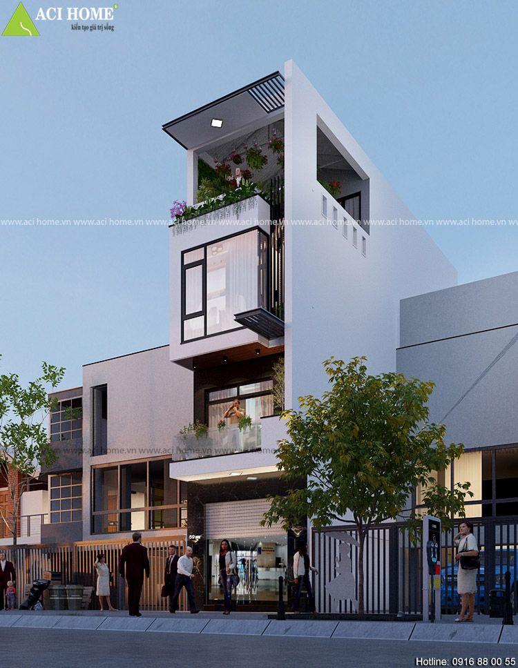 Modern House Bungalow Exterior By Ar Sagar Morkhade Vdraw Architecture 91 8793196382: Thiết Kế Nhà Phố Hiện đại Kết Hợp Kinh Doanh Quần áo Tại Ninh Hiệp-Bắc Ninh