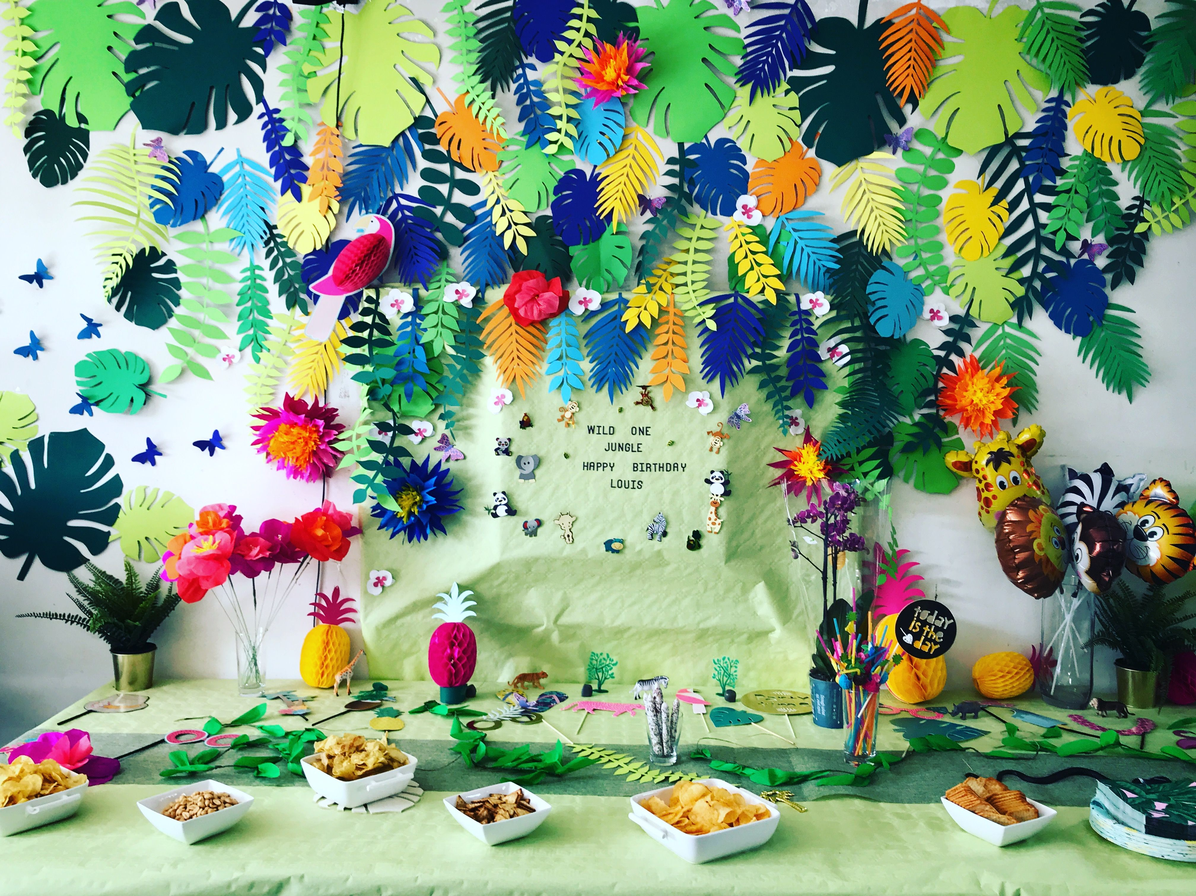 Deco Jungle Anniversaire Jungle Birthday Party Decoration Homemade Annif Louis