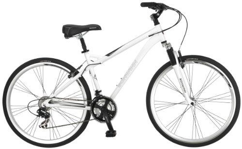 Schwinn Mens Network 30 700C Wheel Mens Hybrid Bicycle White 18 ...