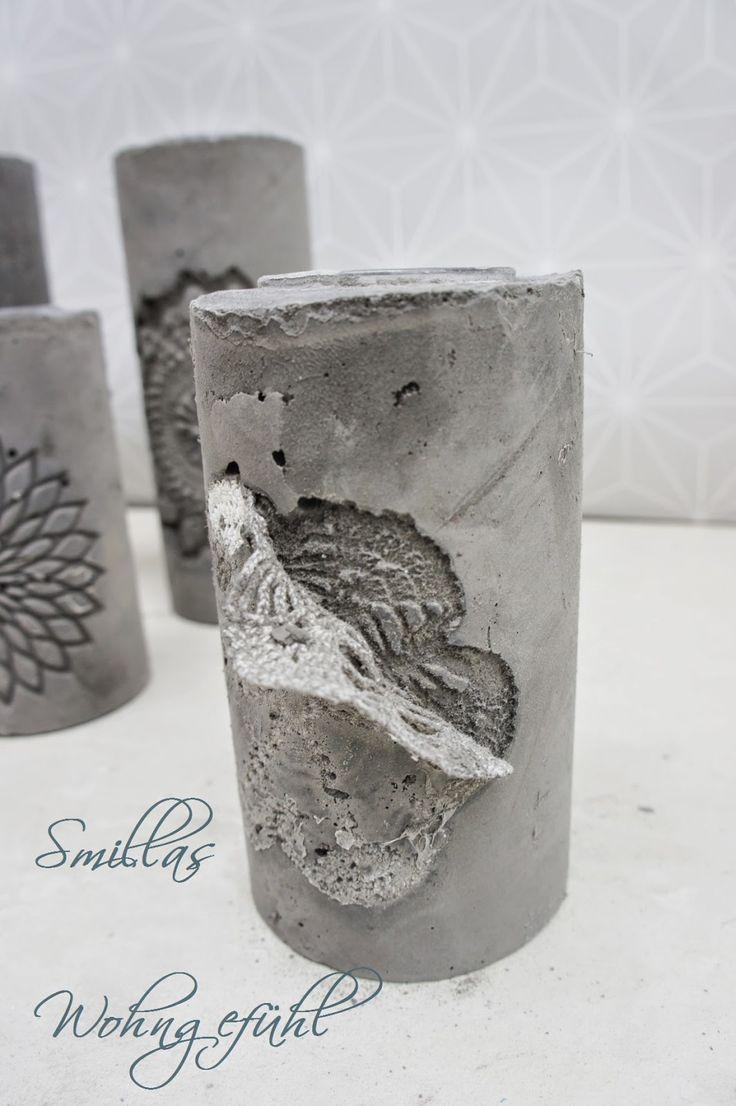 diy concrete candle holder kerzenst nder aus zement beton pinterest concrete candle. Black Bedroom Furniture Sets. Home Design Ideas