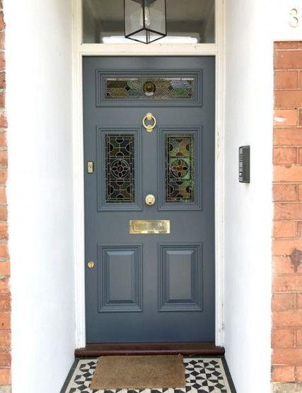 Victorian Front Door London Stained Glass 40+ Ideas #victorianfrontdoors