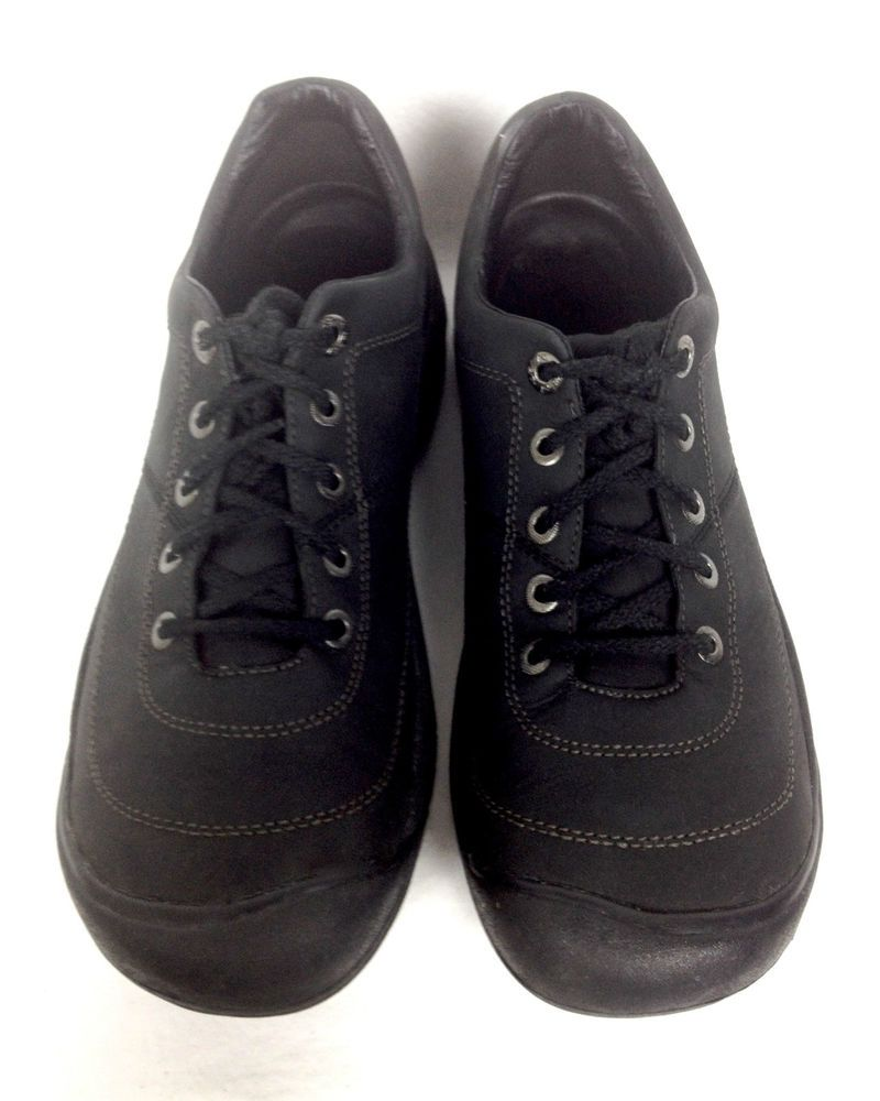 Keen Shoes Mens Black Leather Athletic