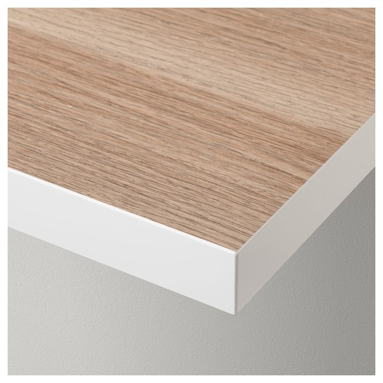 Linnmon Tabletop White White Stained Oak Effect Ikea Chene Blanchi Ikea Plateau Ikea