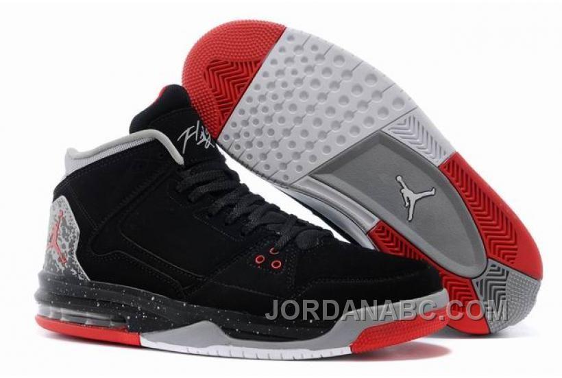 Nike Air Jordans- Jordan Flight Origin Black/Fire Red-Cement Grey
